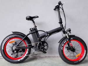 Max Speed 25--32km/H Folding Fat Electric Bicycle pictures & photos