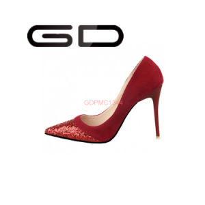 Colorful Shoes High Heel Shinny Front Women Shoes pictures & photos