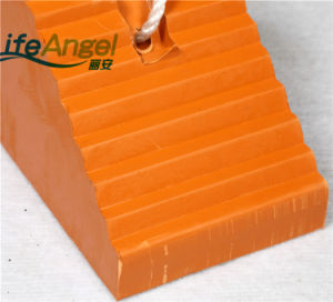 Durable Orange Color Rubber Wheel Chocks Made in China pictures & photos