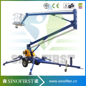 Movable Compact Towable Electric Boom Lift pictures & photos
