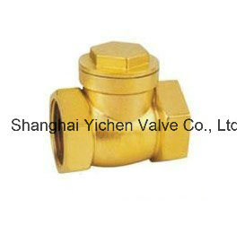 Spring Brass Threaded Check Valve (H14T) pictures & photos