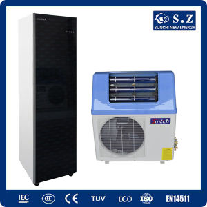 Househould Sanitary 60deg. C Dhw 220V R410A Tankless 5kw, 7kw, 9kw Cop5.32 Save 80% Electric Power Mix Solar Heatpump Water Heater pictures & photos