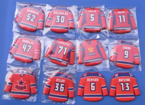 Custom Hockey T Shirt PVC Club Team Fridge Magnet pictures & photos