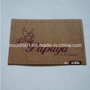 Top Jean Logo Leather Patch Wholesale Custom Clothing Label Leather Label Leather Patch for Garment pictures & photos