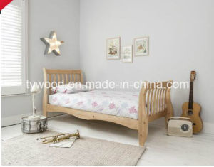Single Bed in Natural with Sleigh Design pictures & photos