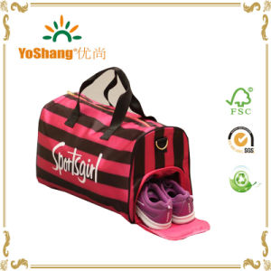 Stripe Pattern Customized Sports Bag Gym Bag pictures & photos