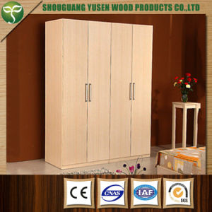 White Color Four Doors Wardrobe Used for Bedroom pictures & photos
