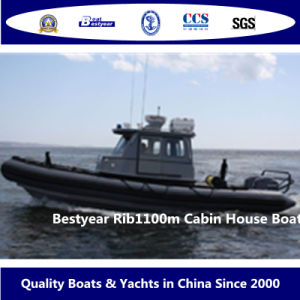 Bestyear Cabin House Boat of Rib1100m pictures & photos
