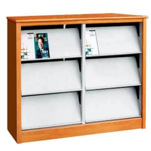 Modern School Library Used Book Shelves/Magazine Shelf with Single Side pictures & photos