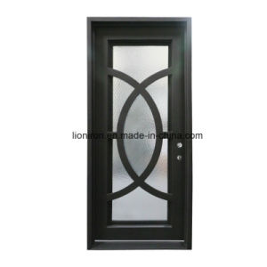 Square Top Custom Ornamental Iron Entry Doors pictures & photos