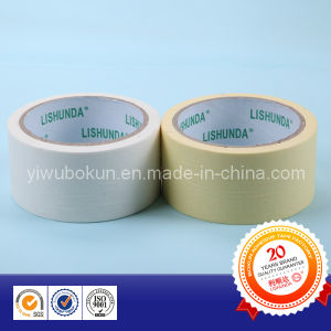 Yellow and White Masking Tape for Protection of Decoration Area pictures & photos