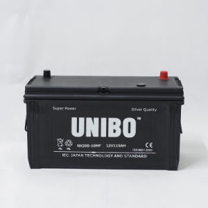 Car Battery High Performance Maintenance Free Nx200-10 Mf 12V115ah pictures & photos