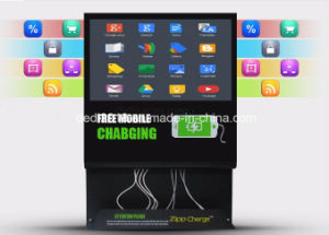 "21.5"" LCD Mobile Phone Charging Station Player Android Touch Mall Digital Signage Advertising Kiosk pictures & photos"