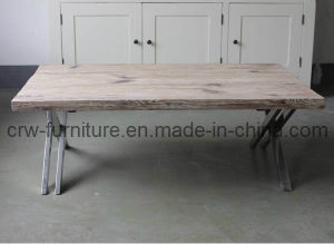 Pine Coffee Table with Stainless Steel Legs (MFF-102) pictures & photos