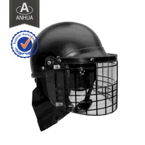 Anti-Riot Helmet with Both PC &Steel Net Visor pictures & photos