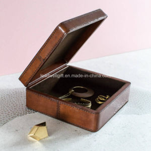 Metallic Leather Jewellery Box Square Jewelry Case pictures & photos