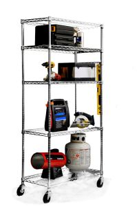 NSF 5 Tiers Chrome Restaurant Kitchen Wire Storage Shelving Rack pictures & photos