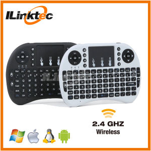 Hot Sale 92 Keys 2.4G Wireless Mini Keyboard with Touchpad up to 15 Meters