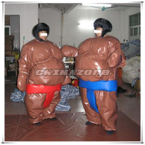 Gray Color Silk Wadding Swedish Sumo Suit From Guangzhou Factory
