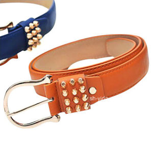 Fashion Punk Decorate Wide Belt with Rivets for Women (YD-15030)
