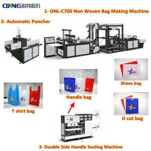 Eco Friendly Non Woven T Shirt Bag Making Machine in Tanzania pictures & photos