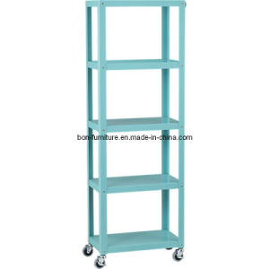 Shower Shelf/Go-Cart Five-Shelf Bookcase pictures & photos