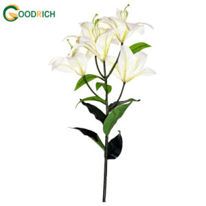 Fabric Artificial Flower Lily Bush