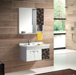 Hot Sales Wall-Mounted Lowes Bathroom Vanity Cabinets (T-9472) pictures & photos