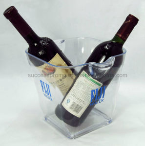 Large Transparent Acrylic Ice Bucket Beer Bucket with Handle pictures & photos