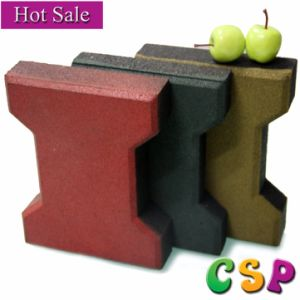 Good Quality Outdoor Dog Bone Rubber Tile pictures & photos