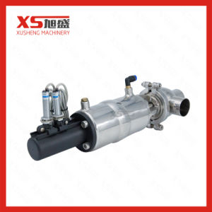 SS304 Sanitary Pneumatic Divert Seat Valve with Position Sensor pictures & photos