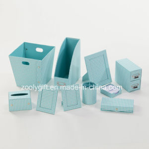 Printed Paper Cardboard Desktop Organizer Office Stationery Set pictures & photos