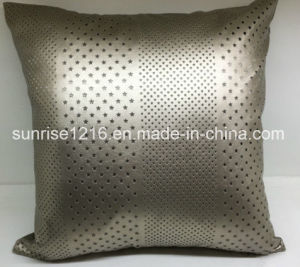 Decorative Cushion Sr-C170220-14 High Fashion Lasered PU Cushion pictures & photos