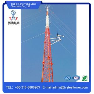 Telecommunication Galvanized Wire Guy Antenna Tower with 3 Legs pictures & photos