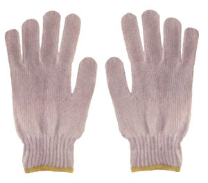 Knitted Cotton Gloves Natural White pictures & photos