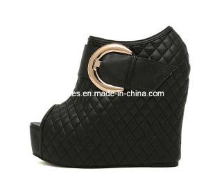 High Heel Wedge Boots Peeptoe Boot Ankle Wedge Shoes