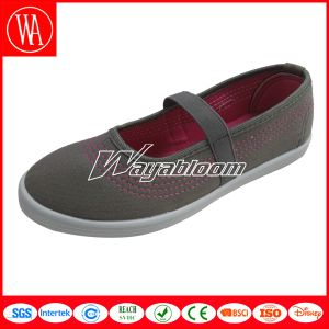 Flat Plain Leisure Women Shoes with Lines pictures & photos