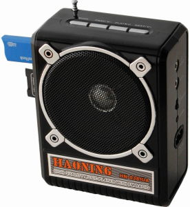 FM Radio with USB/SD and Rechargeable Battery (HN-0391UAR)
