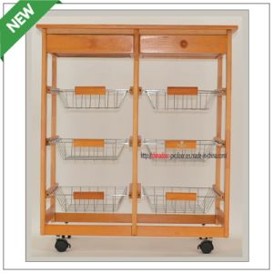 (SM-CC-022) Good Quality 6baskets Kitchen Cart