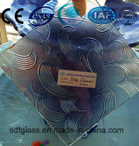 Clear Mayflower Patterned Glass with Ce, ISO (3 TO 8mm) pictures & photos