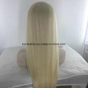 100% Human Hair Full Lace Front Blonde Wig 613 Stright pictures & photos