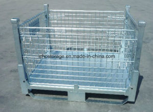 Folding Stackable Wire Mesh Metal Storage Stacking Container pictures & photos