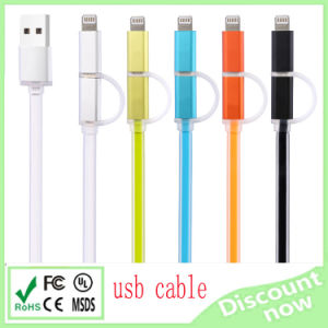 Mutil Data USB Cable 2 in 1 USB Cable for iPhone Samsung USB Cable pictures & photos