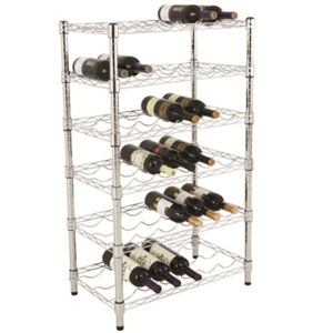 Cheap Chrome Hanging Wire Rack for Wine Display pictures & photos