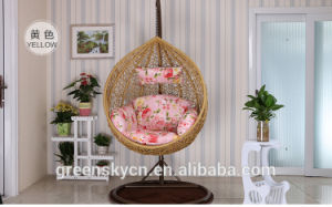2017 Bedroom Rattan Wicker Cane Hanging Egg Swing Chair with Stand pictures & photos