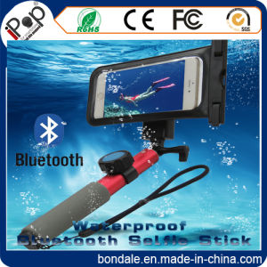 Bluetooth Waterproof Selfie Stick for Swimming with Waterproof Pouch