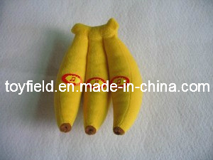 Banana Plush Pet Squeaky Bite Chew Dog Toy pictures & photos