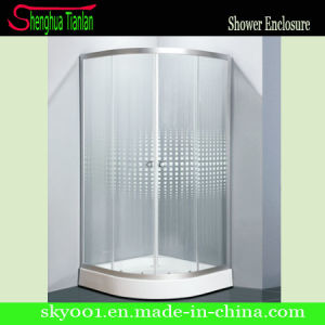 Corner Walk in Printed Tempered Glass Simple Shower Room (TL-537) pictures & photos