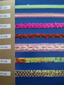 2015 Popular Lace Ribbon for Curtain pictures & photos