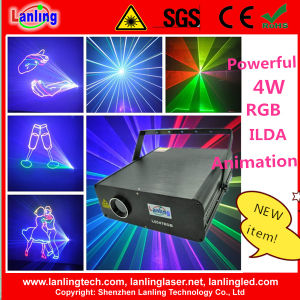 4W RGB 25k Ilda Animation Laser Light Logo Projector pictures & photos